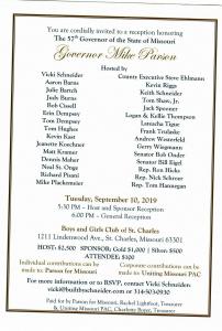 Parson Fundraiser Invitation